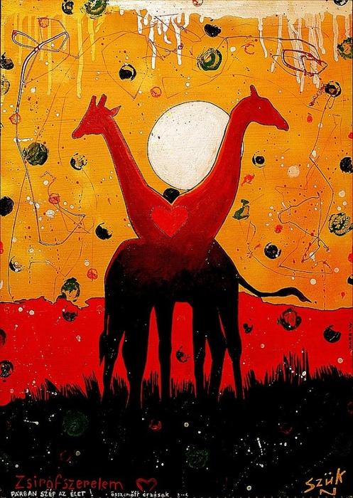 Яркий сюрреализм в искусстве Эда Нэроу (Ed Narrow) - Girafe-love1 (497x700, 329Kb)