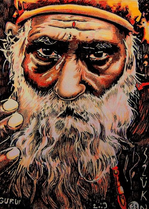 Яркий сюрреализм в искусстве Эда Нэроу (Ed Narrow) - guru 2 (500x700, 395Kb)