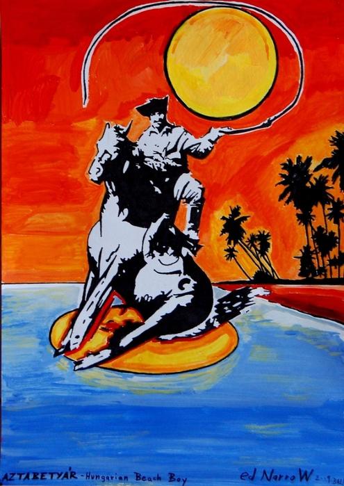 Яркий сюрреализм в искусстве Эда Нэроу (Ed Narrow) - Hungarian Beach Boy-AZTABETYAR (495x700, 282Kb)