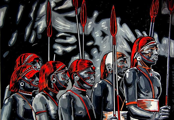Яркий сюрреализм в искусстве Эда Нэроу (Ed Narrow) - Lion Warriors- (700x486, 163Kb)