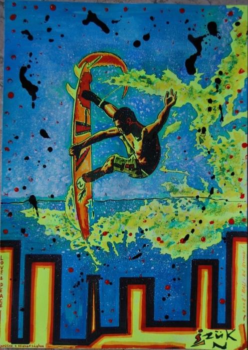 Яркий сюрреализм в искусстве Эда Нэроу (Ed Narrow) - Love & Peace (497x700, 330Kb)