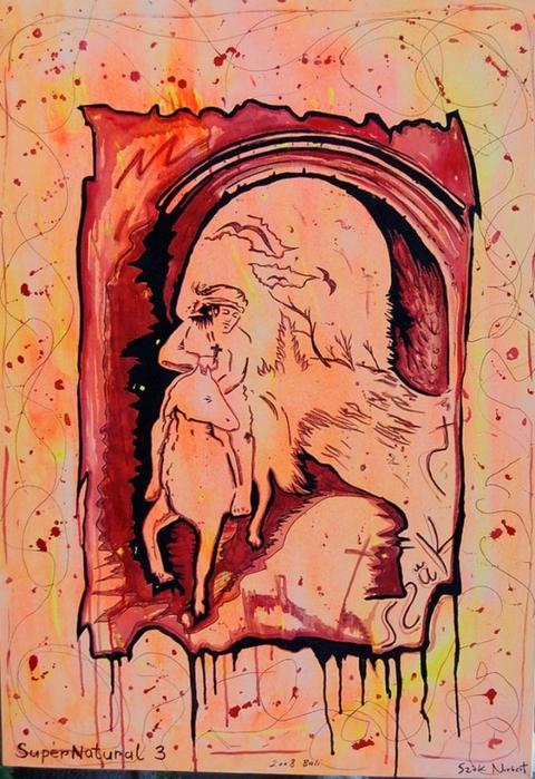 Яркий сюрреализм в искусстве Эда Нэроу (Ed Narrow) - Supernatural III (480x700, 309Kb)