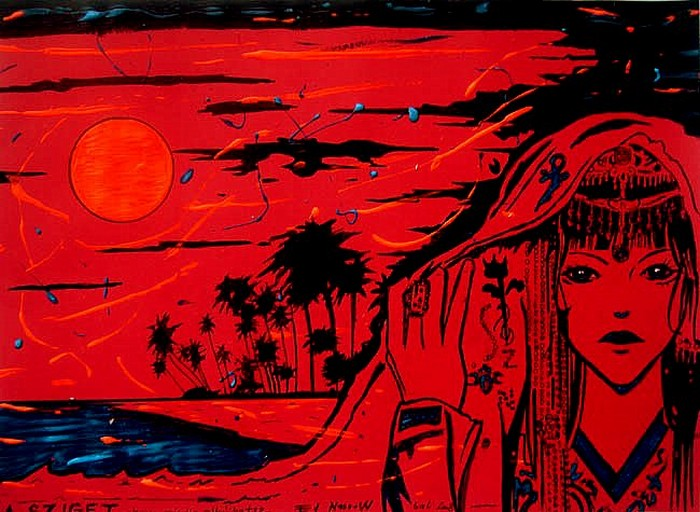 Яркий сюрреализм в искусстве Эда Нэроу (Ed Narrow) - The Island1 (700x512, 114Kb)