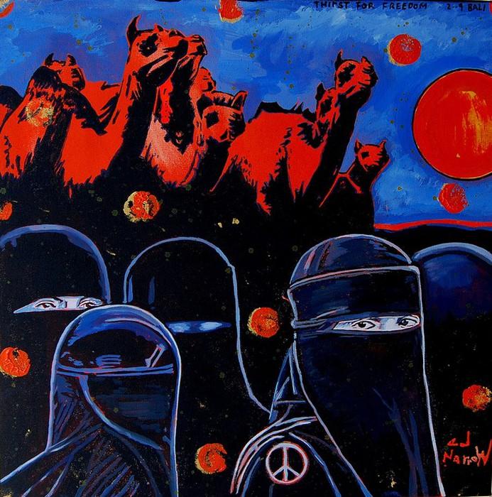 Яркий сюрреализм в искусстве Эда Нэроу (Ed Narrow) - Thirst for Freedom (693x700, 169Kb)
