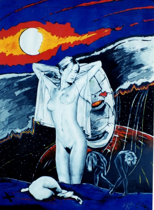 Яркий сюрреализм в искусстве Эда Нэроу (Ed Narrow) - women no cry (514x700, 283Kb)