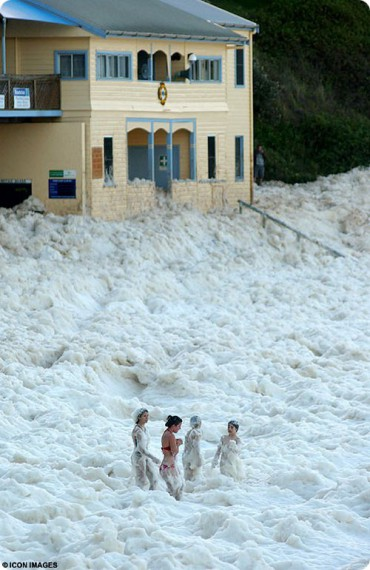 Природный феномен Cappuccino Coast