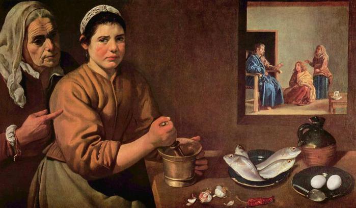Христос в доме Марии и Марфы (700x408, 46Kb)