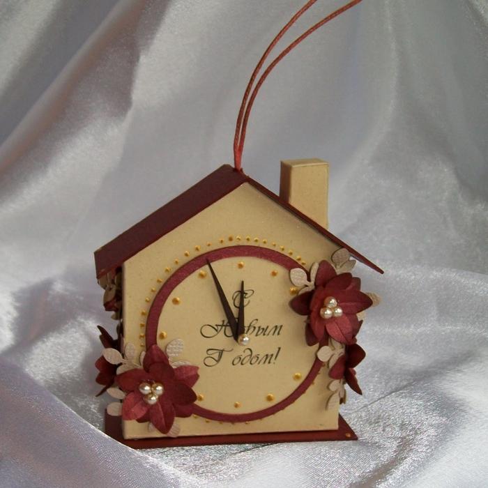 Новогодние часы на елку своими руками
