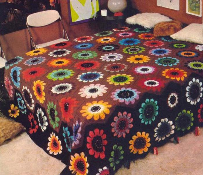 Вязание крючком одеяла и пледы