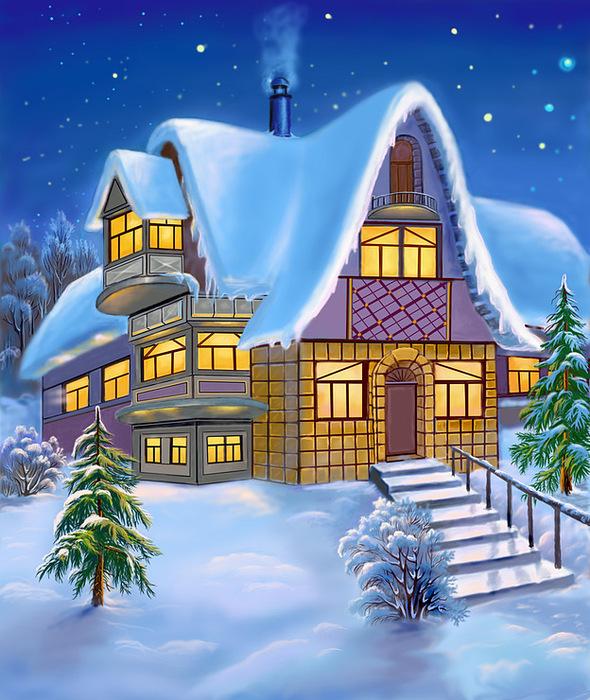 Схема Вышивки Зима