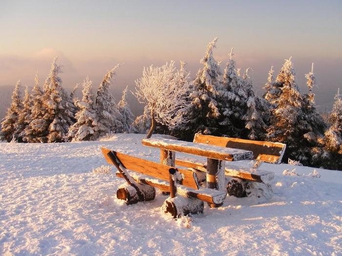 Пейзажи природы зима фото фотоархив