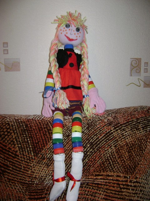 Куклы своими руками из колготок и пластиковых бутылок