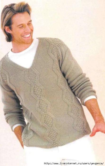 Пуловер мужской спицами.  Пуловеры мужские (вязание спицами, схемы)
