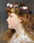 Превью A young girl with a garland of flowers in her hair (484x600, 65Kb)