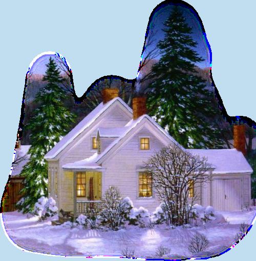 заснеженный домик (500x509, 570Kb)