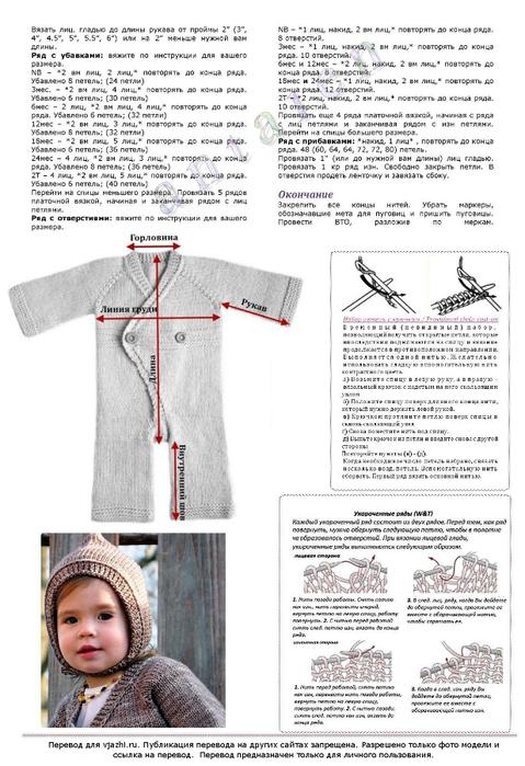 Вязание для новорожденных регланом 98