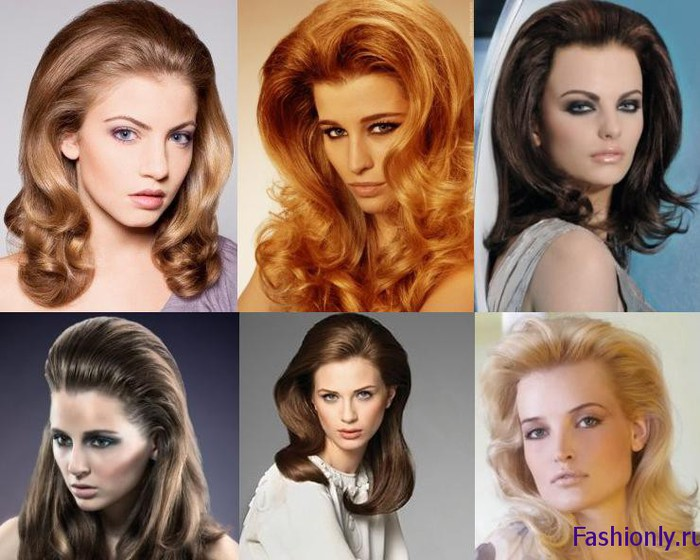 Прически 70 х годов женские на длинные волосы
