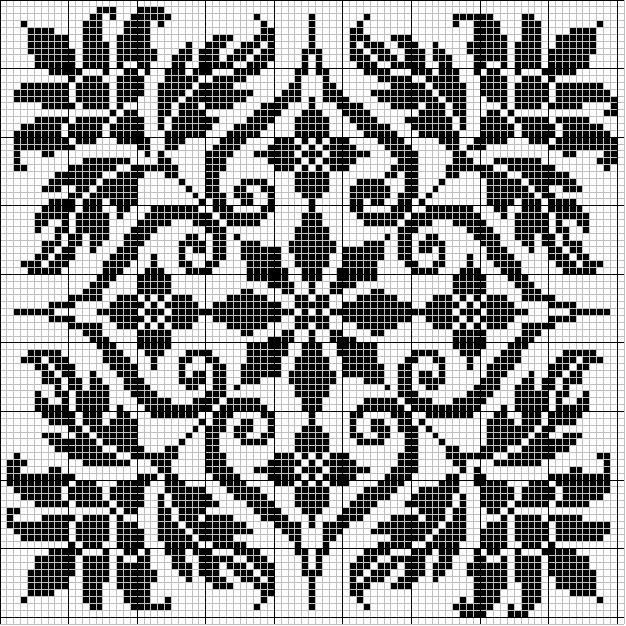 """Предпросмотр - Схема вышивки  """"Монохромная вышивка """" - Схемы автора  """"lavrentevaalla """" - Вышивка крестом."""