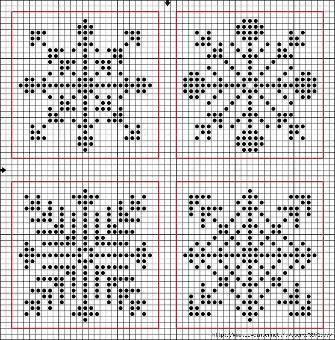 Схемы вышивка на варежках своими руками схемы