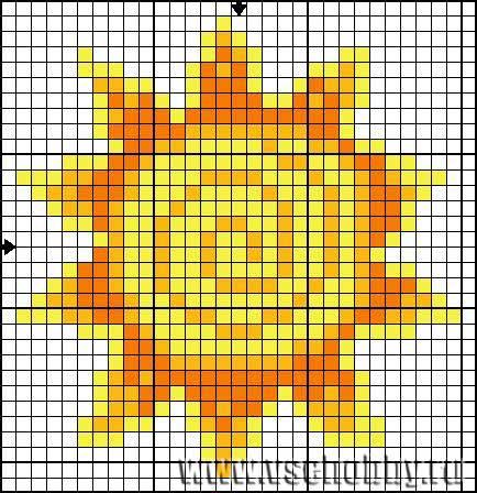 Солнышко схема вышивки крестом скачать.