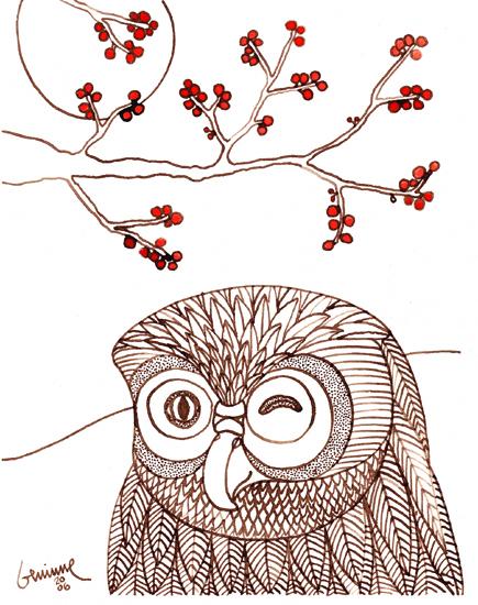 Blog winking owl (435x550, 241Kb)
