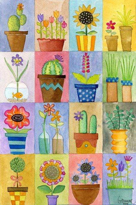 Flower quilt (456x685, 94Kb)