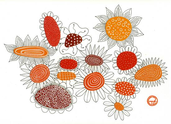 Orange flowers (550x401, 239Kb)