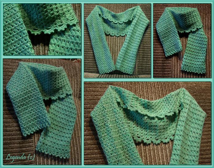 Как связать шарф шраг