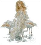 Превью Lanarte33833-Girl_with_Flamingos (639x700, 212Kb)