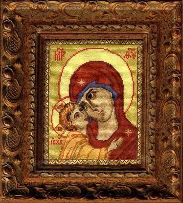 Схема Игоревская икона Божьей Матери (Риолис 652) - скачать бесплатно Вышивай крестиком.