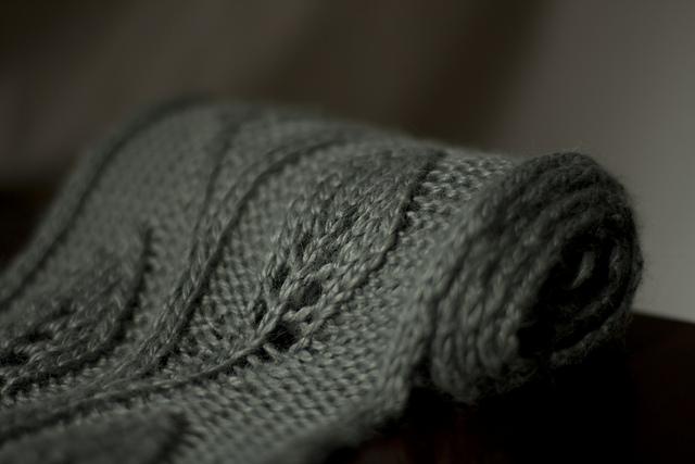 """围巾:""""达芙妮""""的叶子 - maomao - 我随心动"""