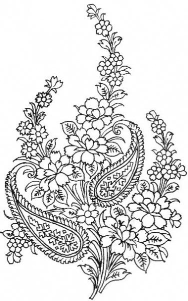 Стиль росписи цветами