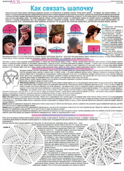 Как связать на спицах донышко шапки