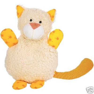 Мягкая грелка-подушка в виде забавного симпатичного котика с яркими...