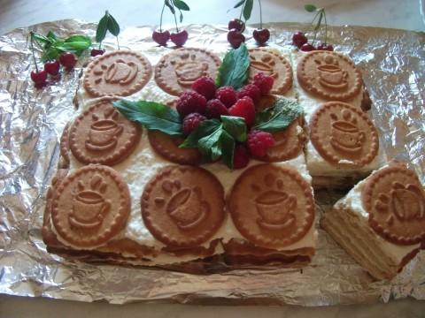 Торт сметана печенье фото