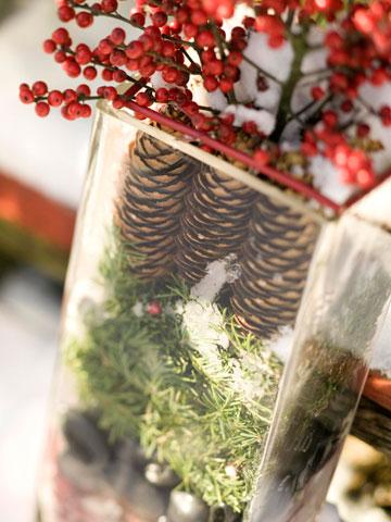Как сделать вазу из еловых шишек