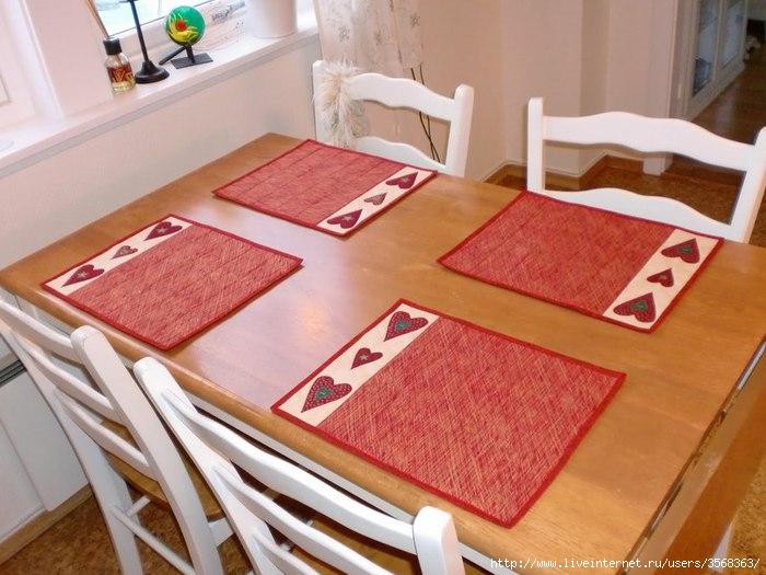 Салфетки на стол под тарелки фото своими руками сшить 77