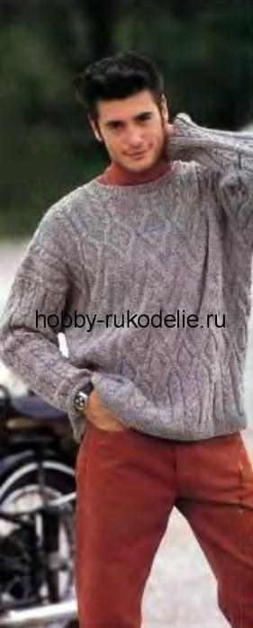 4170780_puloversrelefnymuzoromvyazaniespicamidlyamuzhchin (281x700, 42Kb)