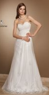 Свадебное платье с открытым лифом прибавляет длинноногости (100x194, 33Kb)