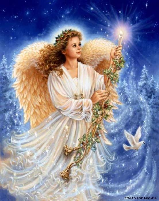 ангел со звездой (553x699, 187Kb)