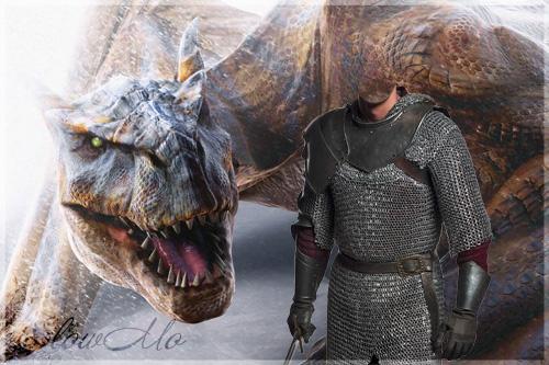 SlowMo, Dragon, Pphotoshop, Templates for photoshop, Psd, Psd-исходники, Шаблоны для фотошопа, Костюмы, Фотомонтаж, Дракон, Рыцарь, Кольчуга/1321686445_Kneht_Dragon_Cover (500x333, 114Kb)
