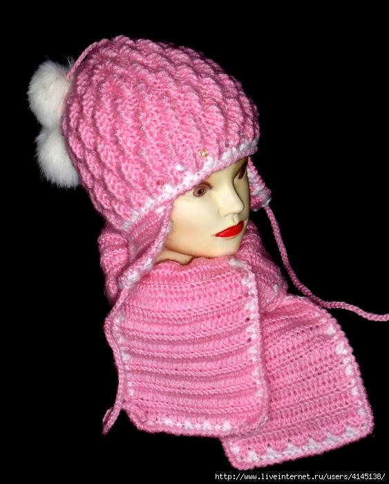 Вязание шапок для девочек на зиму схемы