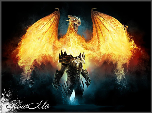 SlowMo, Kneht, Fire dragon, Pphotoshop, Templates for photoshop, Psd, Psd-исходники, Шаблоны для фотошопа, Костюмы, Фотомонтаж, Рыцарь, Дракон, Доспехи/1321704115_Kneht_fire_dragon_Cover (500x372, 98Kb)