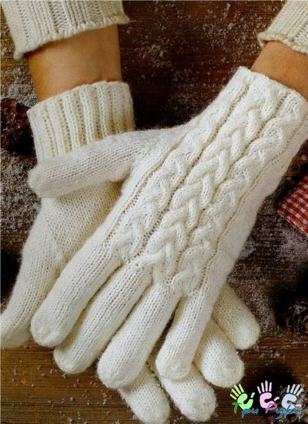 Шикарные вязаные перчатки с