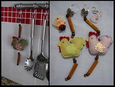 Поделки для кухни из фетра