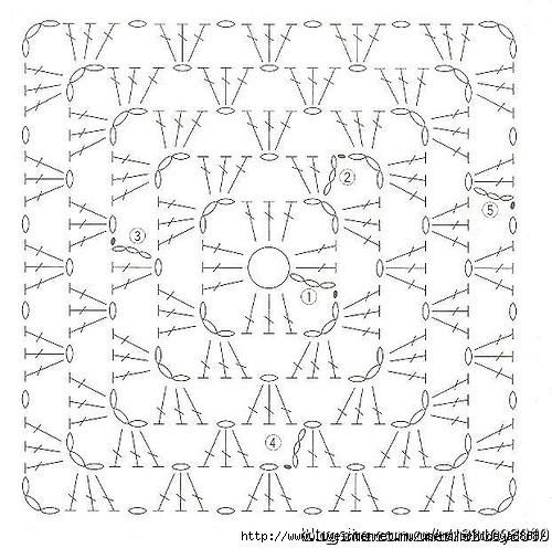 Схемы вязания крючком покрывала на кресло