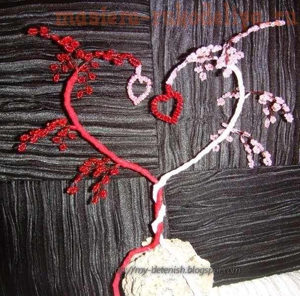 лилии из бисера схемы для
