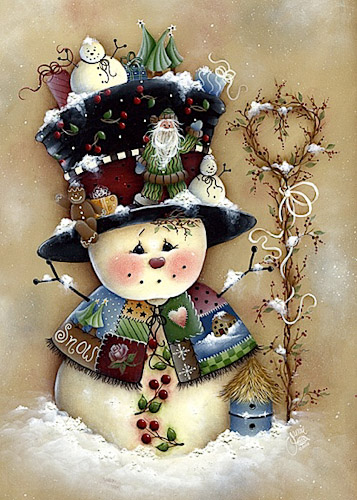 MIL1015_Snowman_with_Hat (357x500, 93Kb)