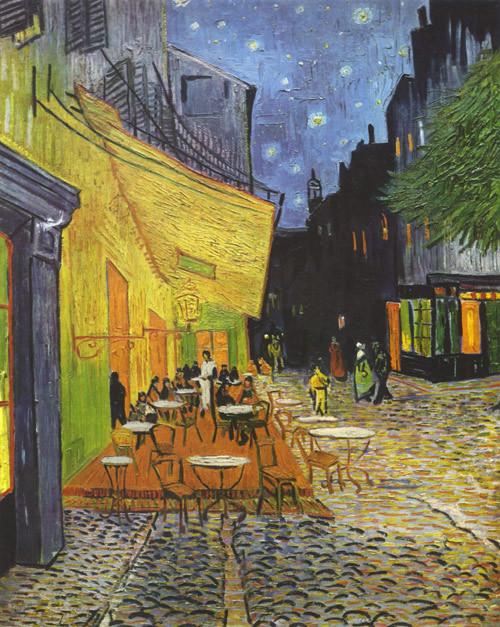 Терраса кафе ночью (500x627, 165Kb)