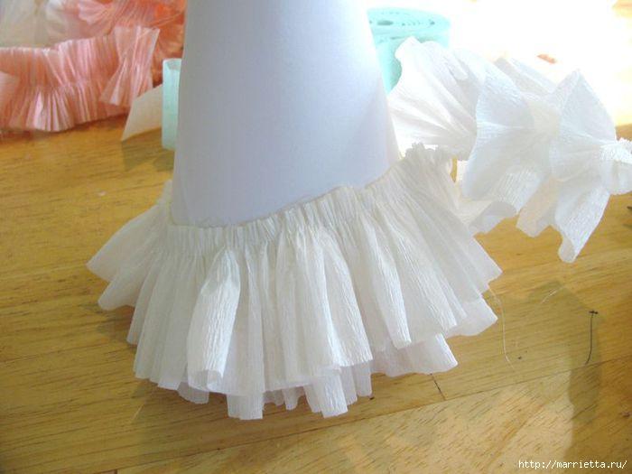 Платья своими руками из гофрированной бумаги